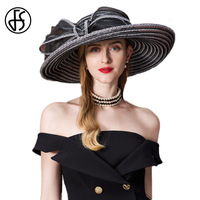FS Summer Hat 2018 For Women Straw Large Wide Brim Sun Visor Ladies Floppy Beach Hats Fedora Hoeden Voor Vrouwen Zomer