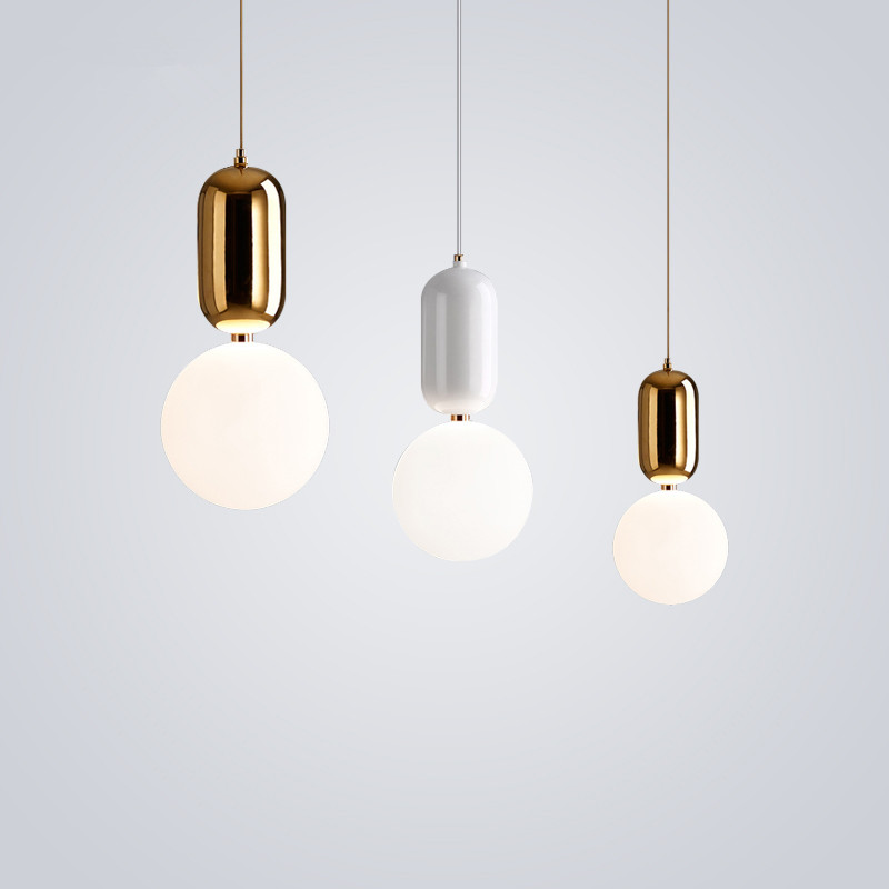 Modern Pendant Lights Globe Round Lampshade LED Pendant Lamp Office Bar Kitchen Fixture Light Hanging Lamp Home Lighting hanging light fixture nordic a globe pendant lampshade black white modern contracted creative earth pendant light