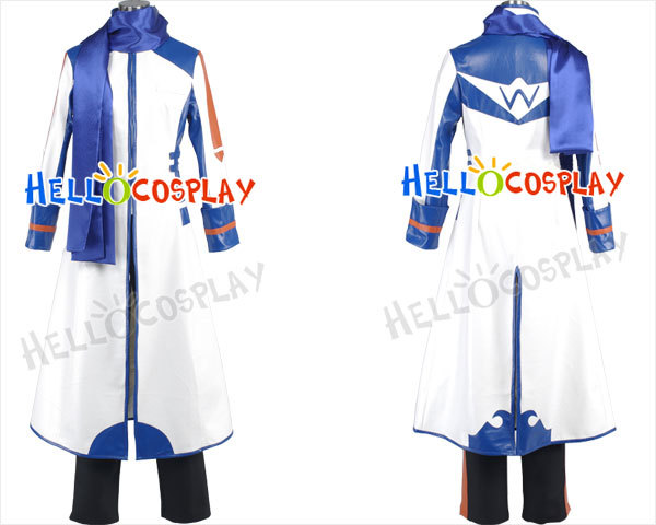 H008  Kaito cosplay costume from Vocaloid 2 cotton+polyster material