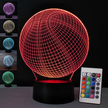 3D Night Light Basketball LED illusion Touch Remote 7 Color ChangeTable Lamp Bedroom Nightlight Birthday Gift for Boys Men