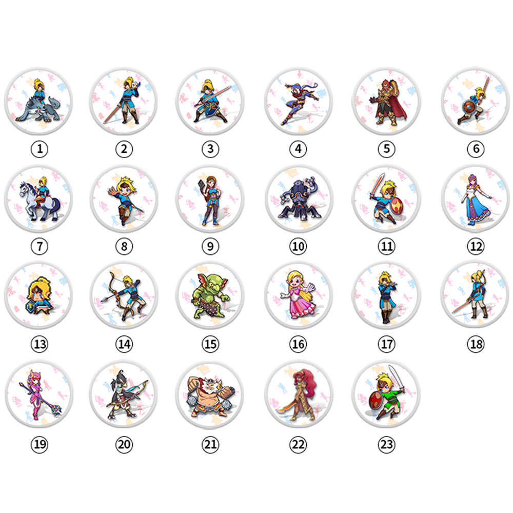 NTAG215 Zelda NFC Card 20 Heart Wolf Revali Mipha Daruk Urbosa For Amiibo Game The Legend Of Breath Of The Wild NS Switch 23pcs