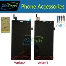 Noir couleur Pour Highscreen Zera S (rev. S) 4.5 «LCD Affichage et Écran Tactile Digitizer Avec Des Outils Et 3 M Adhésif Bande 1 PC/Lot