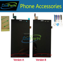 Черный цвет Для Highscreen Зера S (rev. S) 4.5 «ЖК-Дисплей и Сенсорный Экран Digitizer С Инструментами И 3 М Скотч 1 Шт./лот