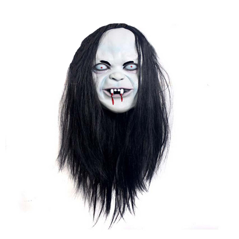 Halloween Scary Mask Full Face Zombie Style White Skull Face Fancy Dress