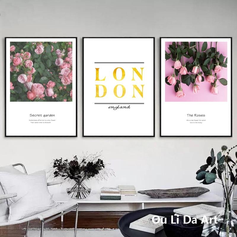 Kein rahmen garten blumen goldene Englisch buchstaben rosa rose ...