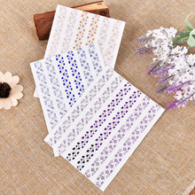 DIY Sticker Gift Decor Scrapbooking Arts crafts 1 pages (78 pcs) photo album Scrapbook glittering Corner Protectors(China)