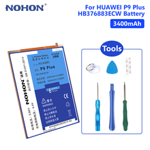 NOHON P9 Plus Battery Real 3100mAh Lithium Rechargeable Phone Batteries For Huawei Ascend HB376883ECW Free Tools Retail Package аккумулятор для телефона ibatt hb376883ecw для huawei p9 plus p9 plus dual sim ascend p9 plus