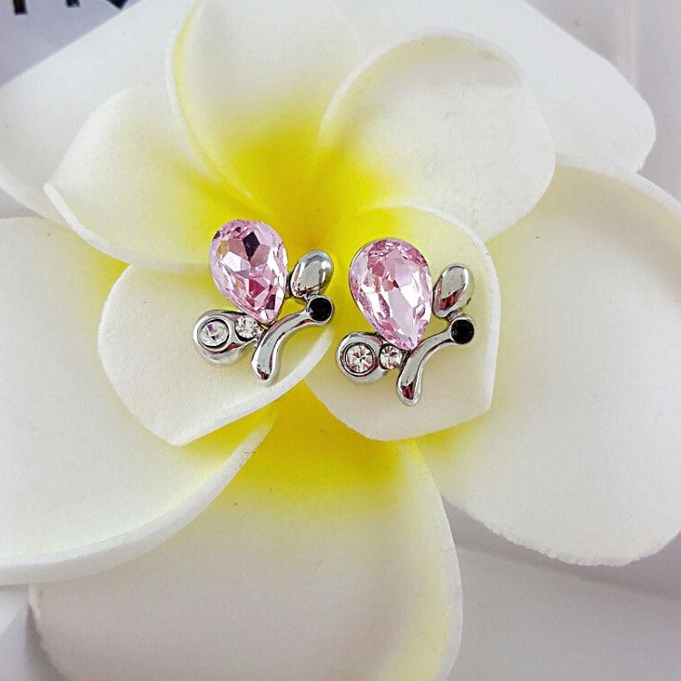 rystal Butterfly Rhinestone Stud Earrings 2