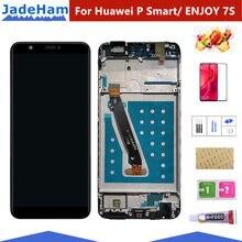 Pantalla LCD inteligente para Huawei P, montaje de digitalizador con pantalla táctil para Huawei P Smart LCD con marco FIG LX1 L21 L22