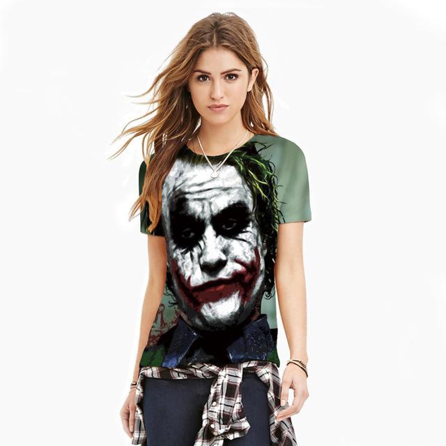 Nuevo Diseño de la Camiseta de Las Mujeres/Los Hombres de La Personalidad Ocasional Tops Tee The Walking Dead Impreso Corto Manga de La Camiseta Punky Camiseta Camisetas