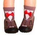 Calcetines del Piso del Niño Del bebé Niños Niño Niña Calcetines Antideslizantes Inferiores Suaves Zapatos Del Niño Recién Nacido Calcetines Con Suela De Goma EWS933YD
