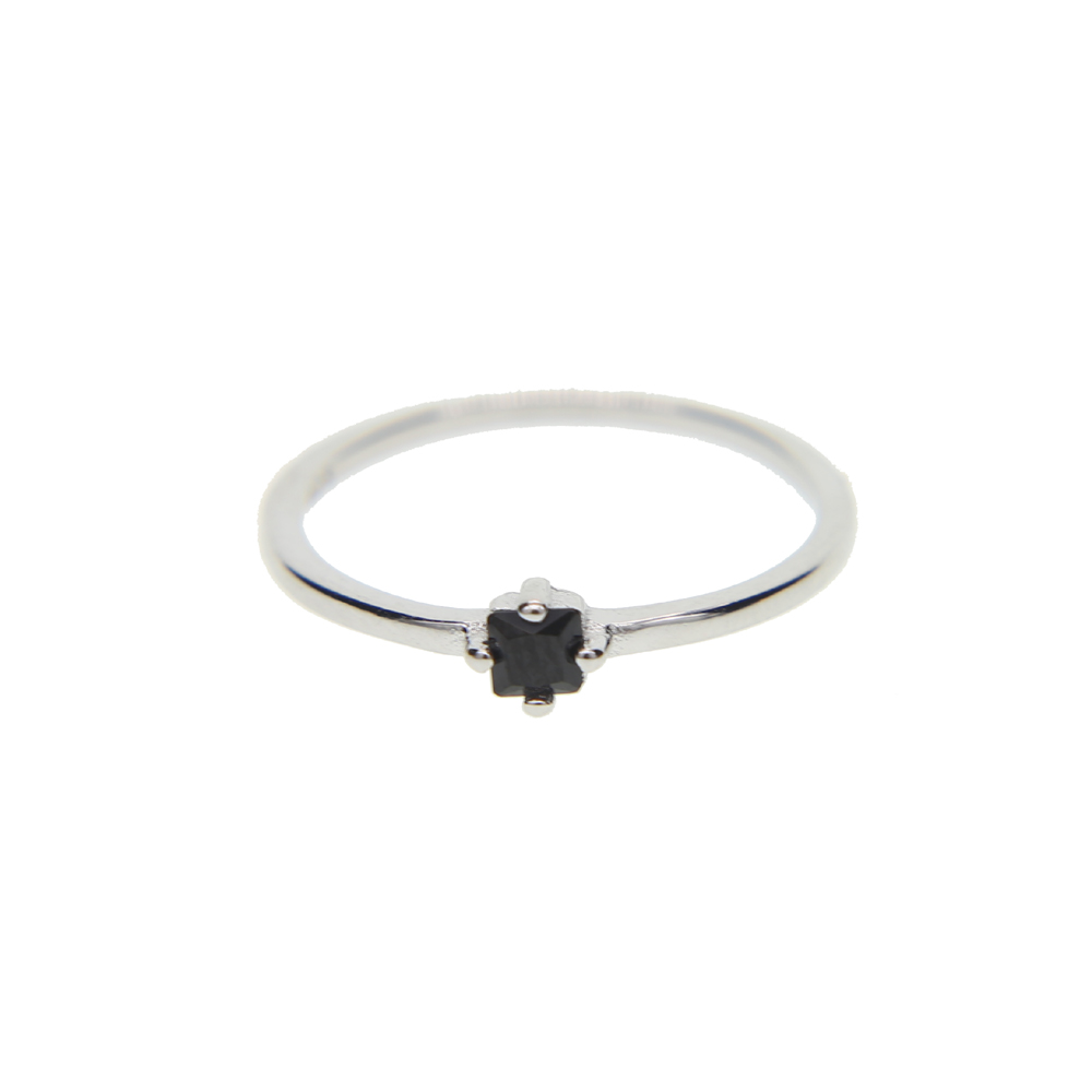 45466e6d0544c US $6.43 8% OFF|Black stone Engagement ring Minimalist Gold Stacking Dainty  SINGLE stone simple jewelry 925 silver ring-in Engagement Rings from ...