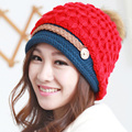 High Quality Skullies Beanies Classic Plus Velvet Knit Women Hat Female Cap Winter Hat For Women Beanie Headgear Warm Gorro