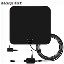 Morpilot Digital TV Antenna High Gain HD TV DTV Box TV Antennas 60 Mile Range with Detachable Amplifier Signal Booster US Plug