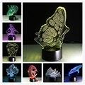 USB LED Красочный Ночной Лампы 3D Bulbing Свет Сердце Визуальную Иллюзию Лампы Для Детей Игрушки Рождественские Подарки Ко Дню Рождения Ночное Освещение
