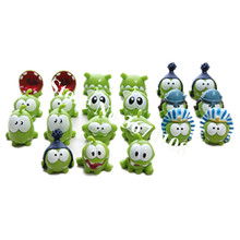 Cute om nom frog Resin Toy Cut the ropes Action Figure Model cut the ropes figure classic toys game Xmas Gifts Toy поло print bar om nom