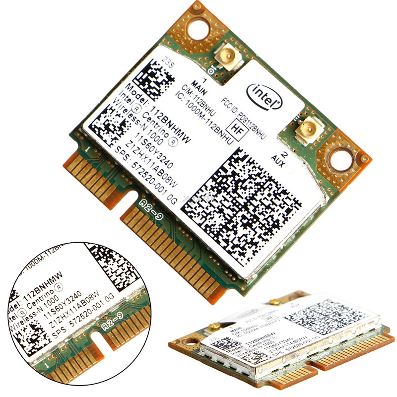 Intel Centrino Wireless-N 1000 802.11 b/g/n 112BNHMW Half PCI-E Mini Wifi Card Drop Ship(China)