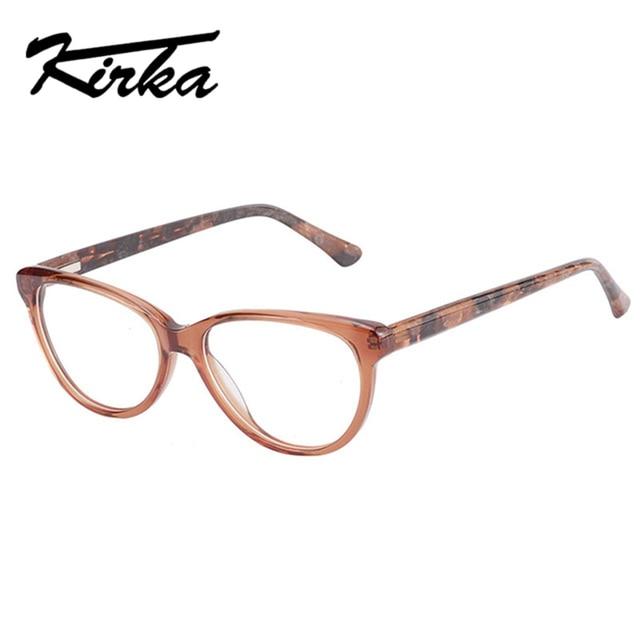 338680100 Kirka خلات إطارات النساء البصرية نظارات الرجعية النظارات الطبية إطار البني  نظارات الإطار للنساء