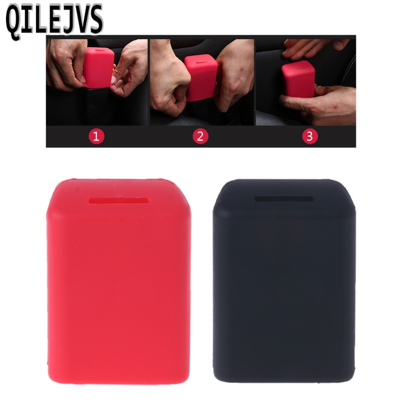 QILEJVS Universal Silicone Car Seat Belt Buckle Covers Clip Anti Scratch Cover in Seat Belts Padding from Automobiles Motorcycles