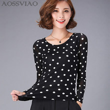 6b347a4880 Women Casual Long Sleeve Dotted Tops Promotion-Shop for Promotional ...