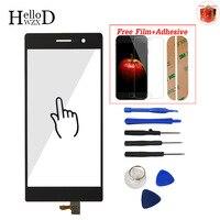 5,0 ''Handy Touch Screen Digitizer Glass Panel Für Huawei Ascend P7 P 7 Frontlinse Sensor Touch Klebstoff Displayschutzfolie geschenk