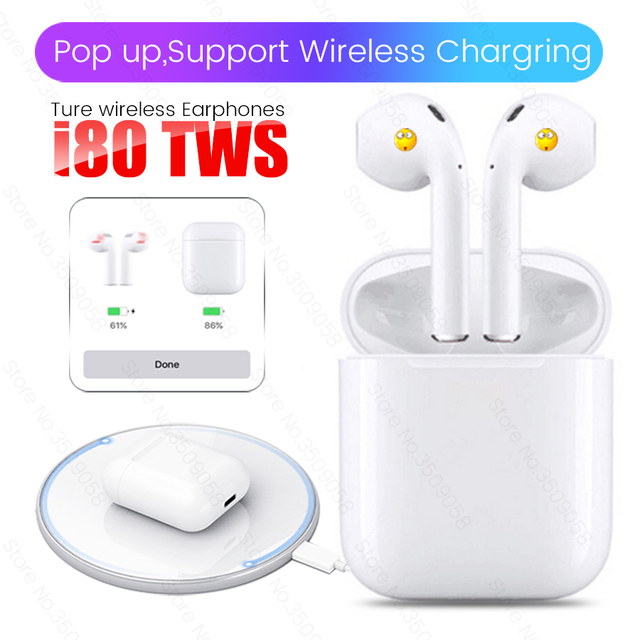 bb244c0b991 I80 TWS Pop Up Bluetooth 5 0 Headset 6D Bass Touch Control Wireless Earphone  PK I15