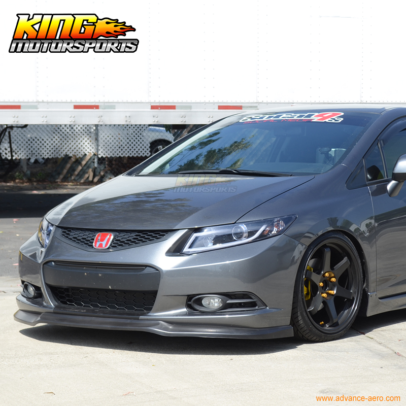 fit for 2012 2013 honda civic 2 door coupe ikon front bumper lip spoiler chin in bumpers from. Black Bedroom Furniture Sets. Home Design Ideas