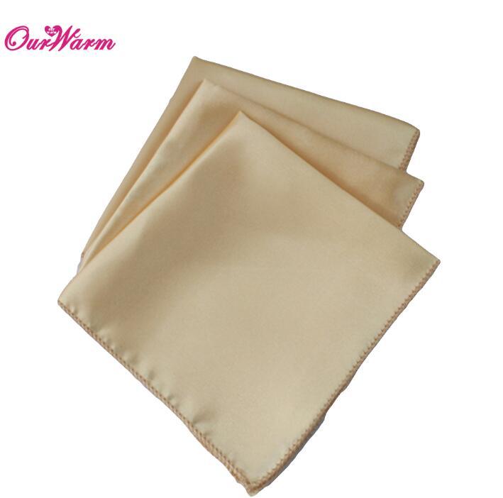 OurWarm 50 шт. атласная ткань салфетки для стола квадратная карманная салфетка для ресторана отеля банкета свадебного стола 30*30 см - Цвет: CHA