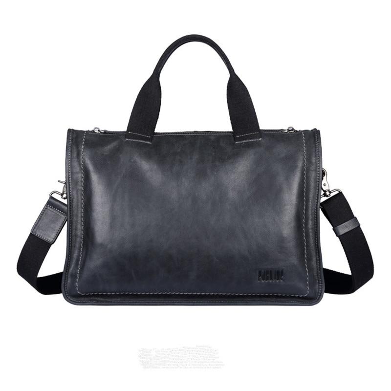 Pabojoe brand High end business genuine leather handbag font b Men b font cow leather Messenger