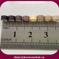 1000pcs Bag 8000pcs Lot 4 5mm Mix Color Silicone Lined Micro Tubes For Hair Extensions