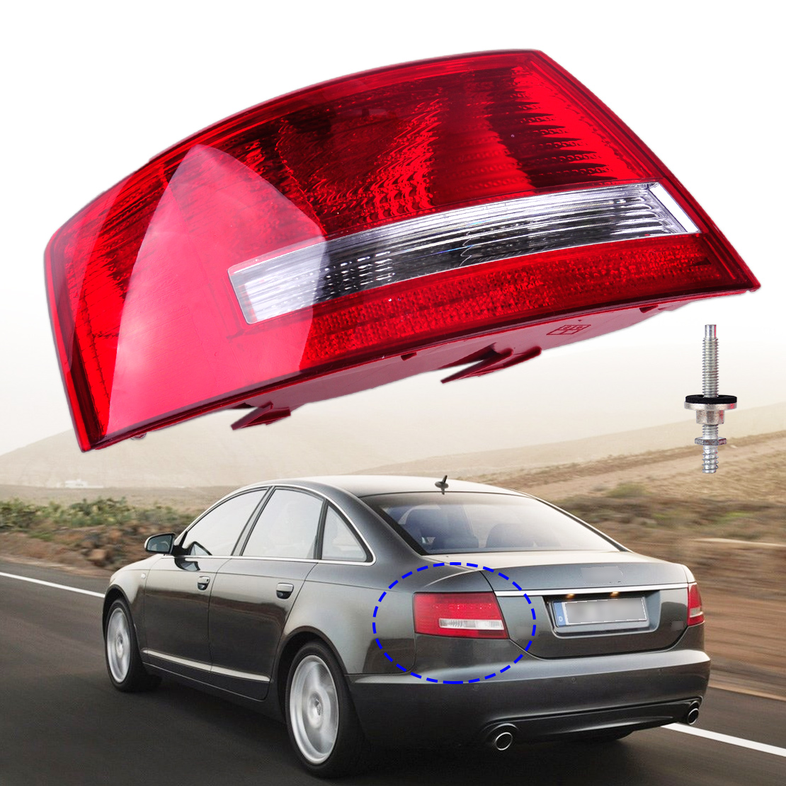 beler Left Tail Light Assembly Lamp Housing without Bulb 4F5-945-095-L 4F5 945 095 D for Audi A6 Quattro A6 2005 2006-2008 Sedan free shipping for skoda octavia sedan a5 2005 2006 2007 2008 left side rear lamp tail light