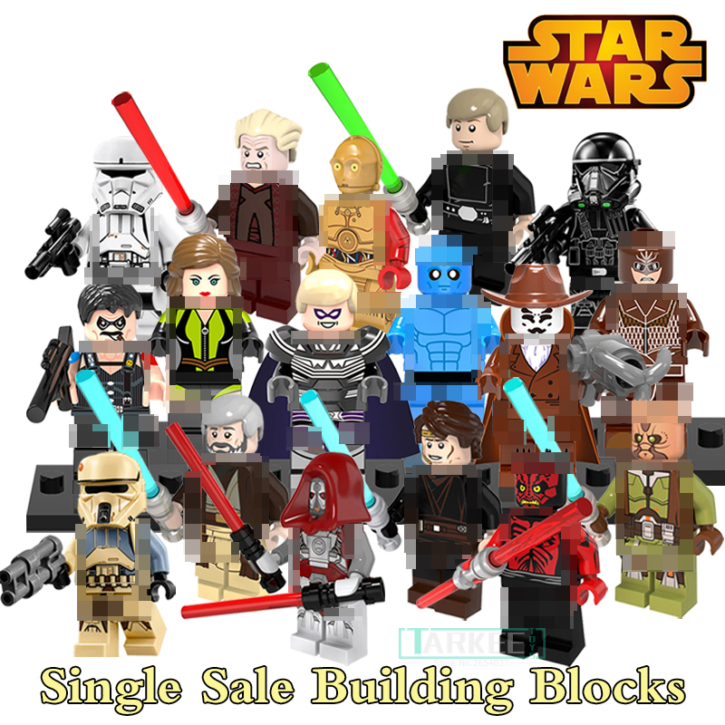 Single Sale  Imperial Hovertank Pilot Shoretrooper Jedi Knight Starwars Building Blocks Comedian Superhero Figures Kids DIY Toys 3pcs set imperial hovertank pilot death trooper shoretrooper diy figures starwars superheroes building blocks new kids toys xmas
