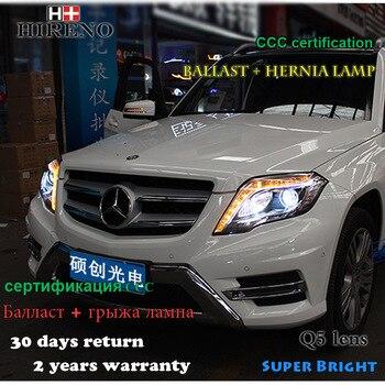 Hireno Headlamp for Mercedes-Benz GLK300 GLK260 GLK200 Headlight Assembly LED DRL Angel Lens Double Beam HID Xenon 2pcs