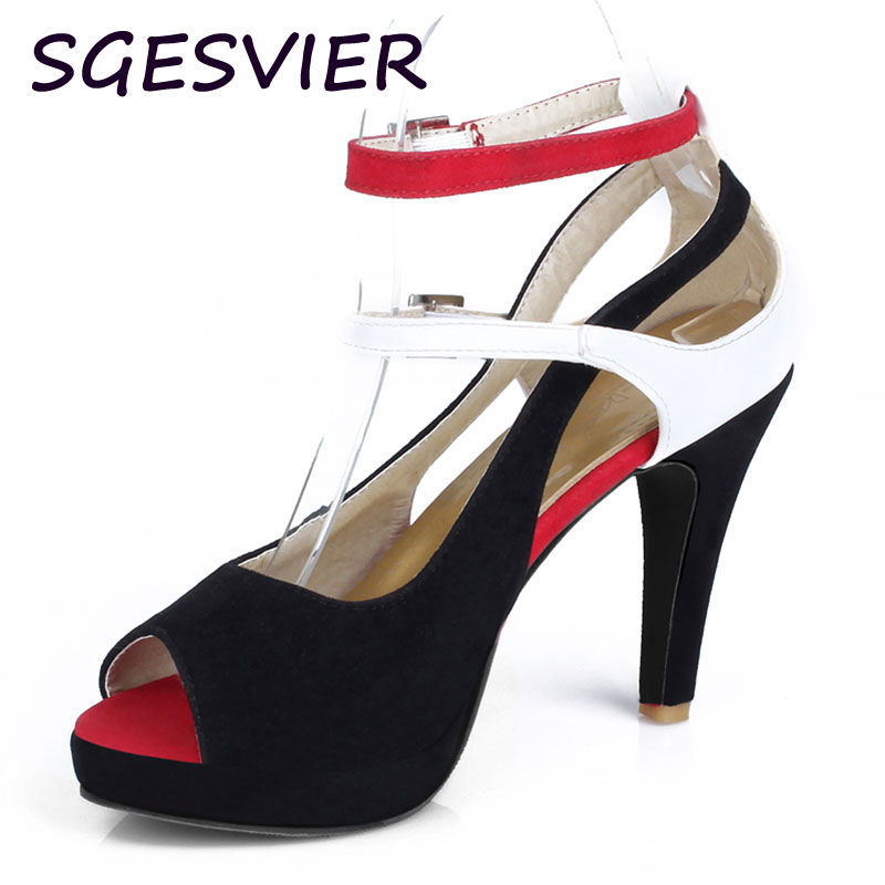 Big Size 32-43 Fashion Party Red Sole Shoes Woman Sexy Red Bottom High Heels Summer Pumps Ankle Strap Sandals Women Shoes AA368 big size 32 43 fashion party shoes woman sexy high heels platform summer pumps ankle strap sandals women shoes