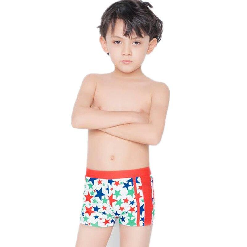 2016 Summer boys trunks Fashion boy swimwear for kids 5-15 age Print boxer swimsuit boys bathing suits 4 colors swimming costume camiseta para quemar grasa
