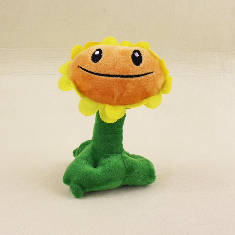 15cm Plants VS Zombies Soft Plush Toy Doll PVZ Sunflower Plush Sucker Pendant Stuffed Doll