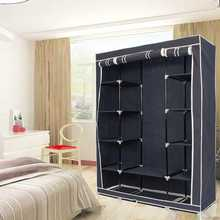 Lowest Price Modern Non-woven Cloth Wardrobe Storage Cabinet DIY Fold Portable Storage Cabinet Multifunction Dustproof Closet(China)