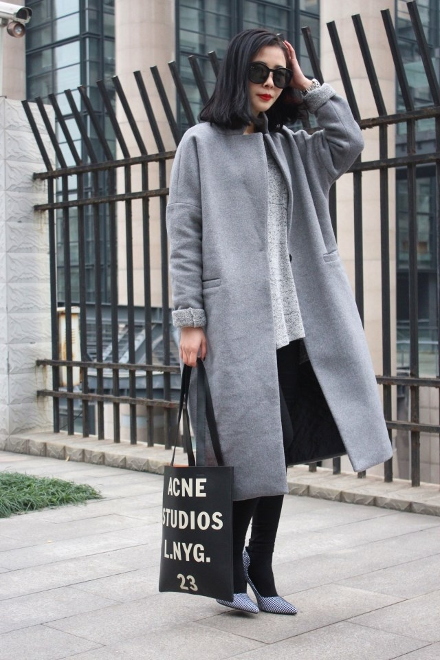 High End 2014 Spring Fashion High Street Long Trench Coat Oversize Outwear Winter Senior