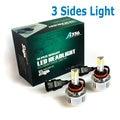 72W 6600LM H8 H9 H11 auto Headlight Kits 3 led chips 12V DC high power H7 HB3 HB4 9005 9006 LED Headlight  Chip
