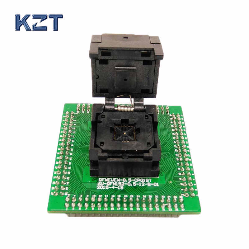 IC550-0484-004-G Programming Socket QFN48 MLF48 IC Test Adapter Pitch 0.5mm Clamshell Chip Size 7*7 Flash Adapter Burn in SocketIC550-0484-004-G Programming Socket QFN48 MLF48 IC Test Adapter Pitch 0.5mm Clamshell Chip Size 7*7 Flash Adapter Burn in Socket