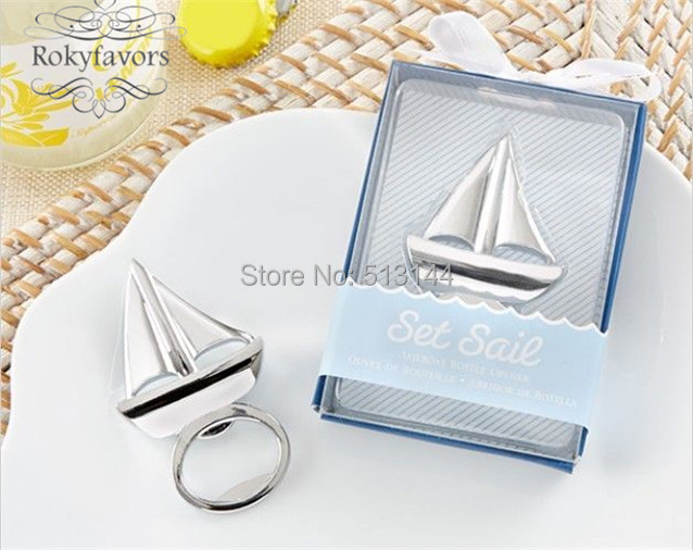 free shipping 50pcs sail boat bottle opener bridal shower party favors ideas souvenirs engagement party gifts