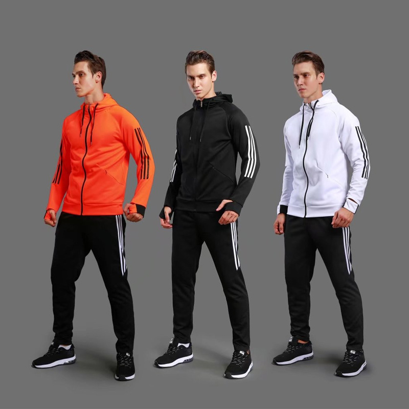 Football jerseys Sets Soccer Jerseys 2018 Women Mens Sports Suits Jacket Pants Hooded Sportswear Fitness Training Running Suit цена