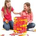 Envío gratis 50 unids bloques de colores cálidos, para niños juguetes clásicos Citiblocs bloques de ensamblaje, los niños de juguetes educativos de madera