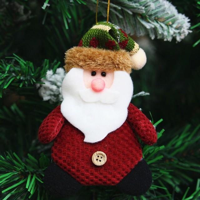 santa claus snowmen christmas pendant drop ornaments christmas tree decorations handmade christmas tree ornaments doll - Santa Claus Christmas Tree Decorating Ideas