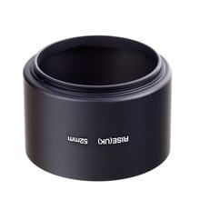 52mm 52 professionnel téléobjectif métal hotte 52mm vis dans 52mm filtre filetage