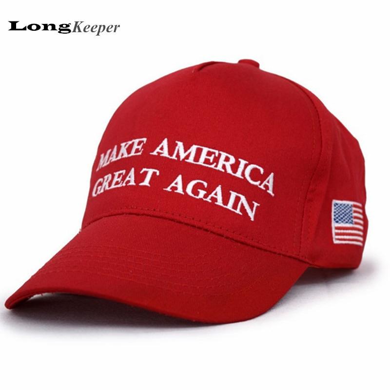 Hacer América grande otra vez gorras gorra de béisbol SnapBack gorras para  Mujeres Hombres 2016 campaña carta casquillo sombreros al por mayor 10  unids set 74a4e224c66