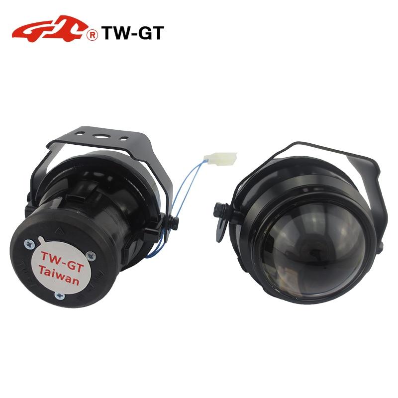 TW-GT Universal 2.2 Inch hid bi xenon fog lamp projector lens foglight spot light H11 bulbs Car Motorcycle high low beam