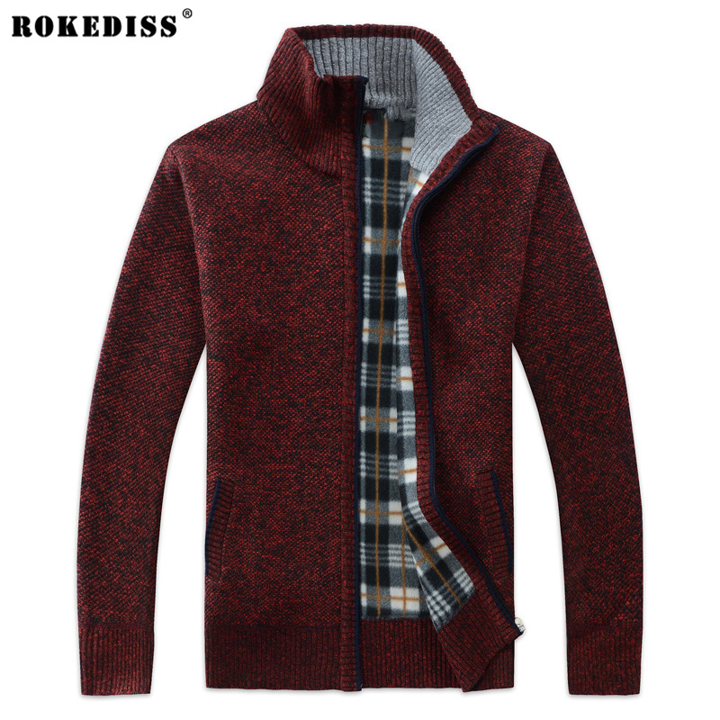 38 Cashmere Sweatercoat For font b Men b font 2017 Fall Winter Solid Color Man thicken