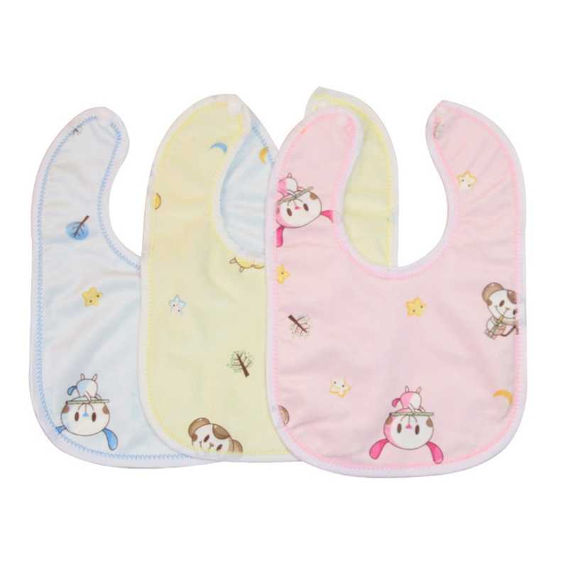 1Pcs Baby Waterproof Bibs Cartoon Printing Infant Girls Boys Toddler Scarf Bandana Bibs For Kids Random Color