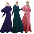 Новый мусульманин абая арабских женщин мода платья о-образным вырезом с длинными рукавами империи талии длиной до пола этническая мусульманин джилбаба кафтан платья